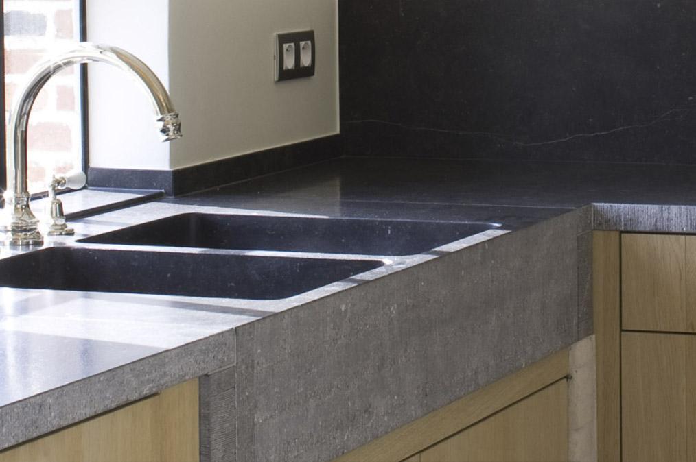 Natuursteen keukenbladen steenkapperij den itter - Werkblad graniet prijzen keuken ...